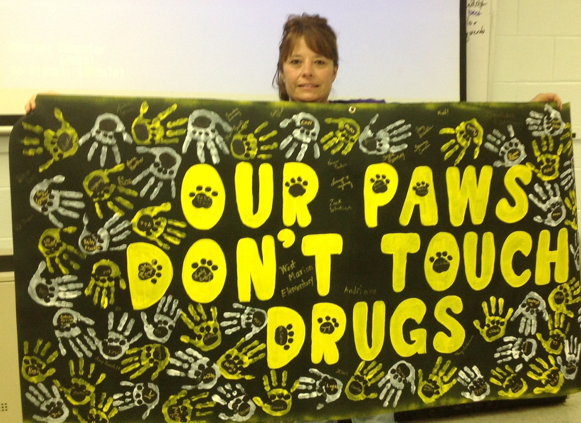 West Marion Elementary Red Ribbon Week Poster