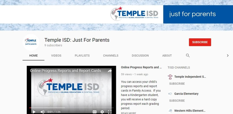 Temple ISD Just for Parents