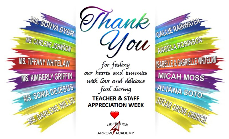 Thank You for Teacher & Staff Appreciation Breakfasts & Luncheons Featured Photo