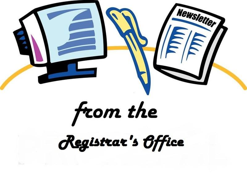Registrar's news