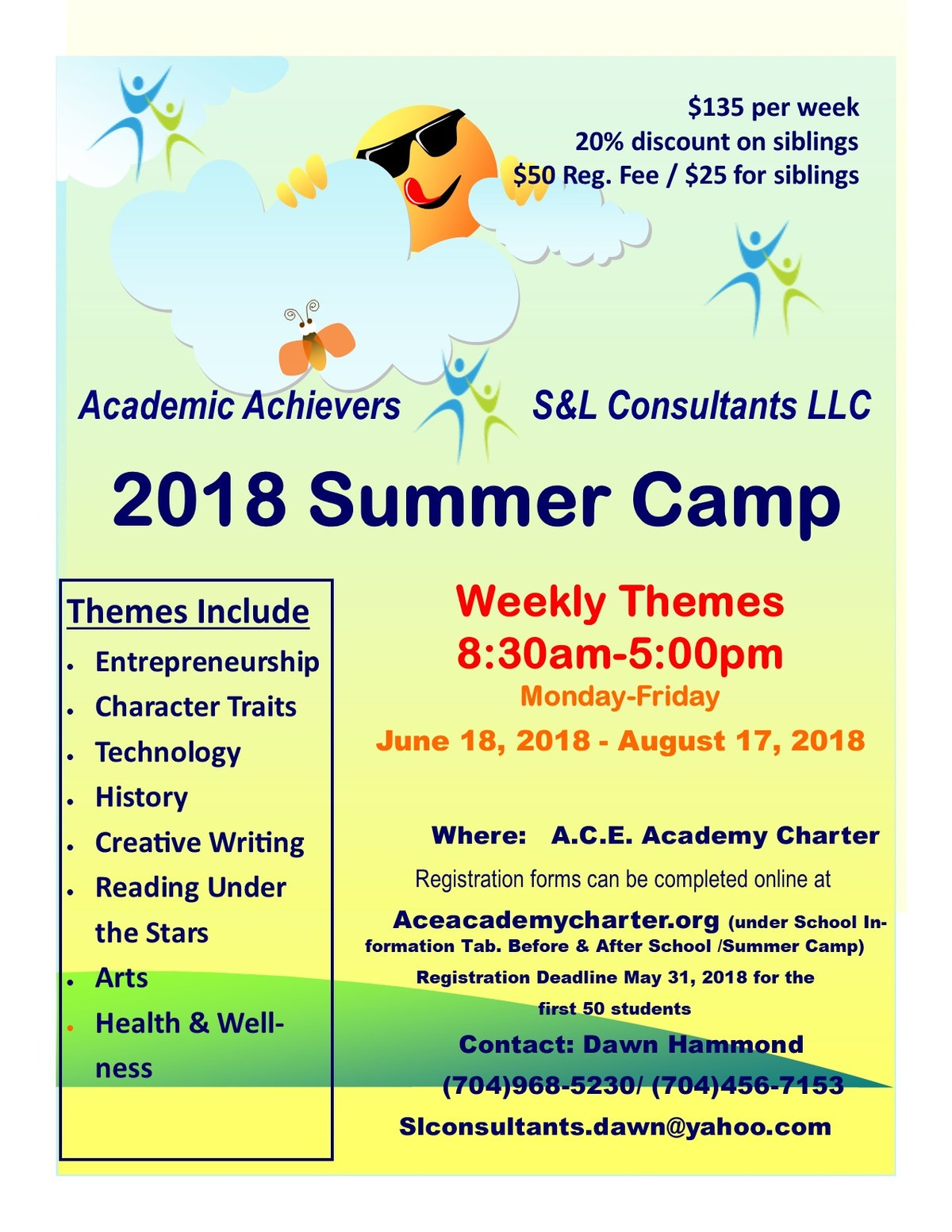2018 Summer Camp Flyer