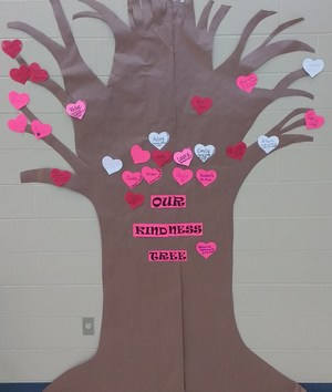 Our Kindness Tree as of February 8th.