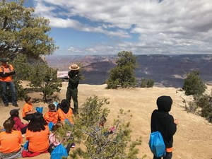 KSSE Students at Grand Canyon with Ranger