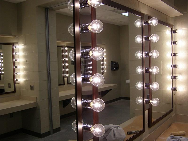 dressing room inside the fine arts center