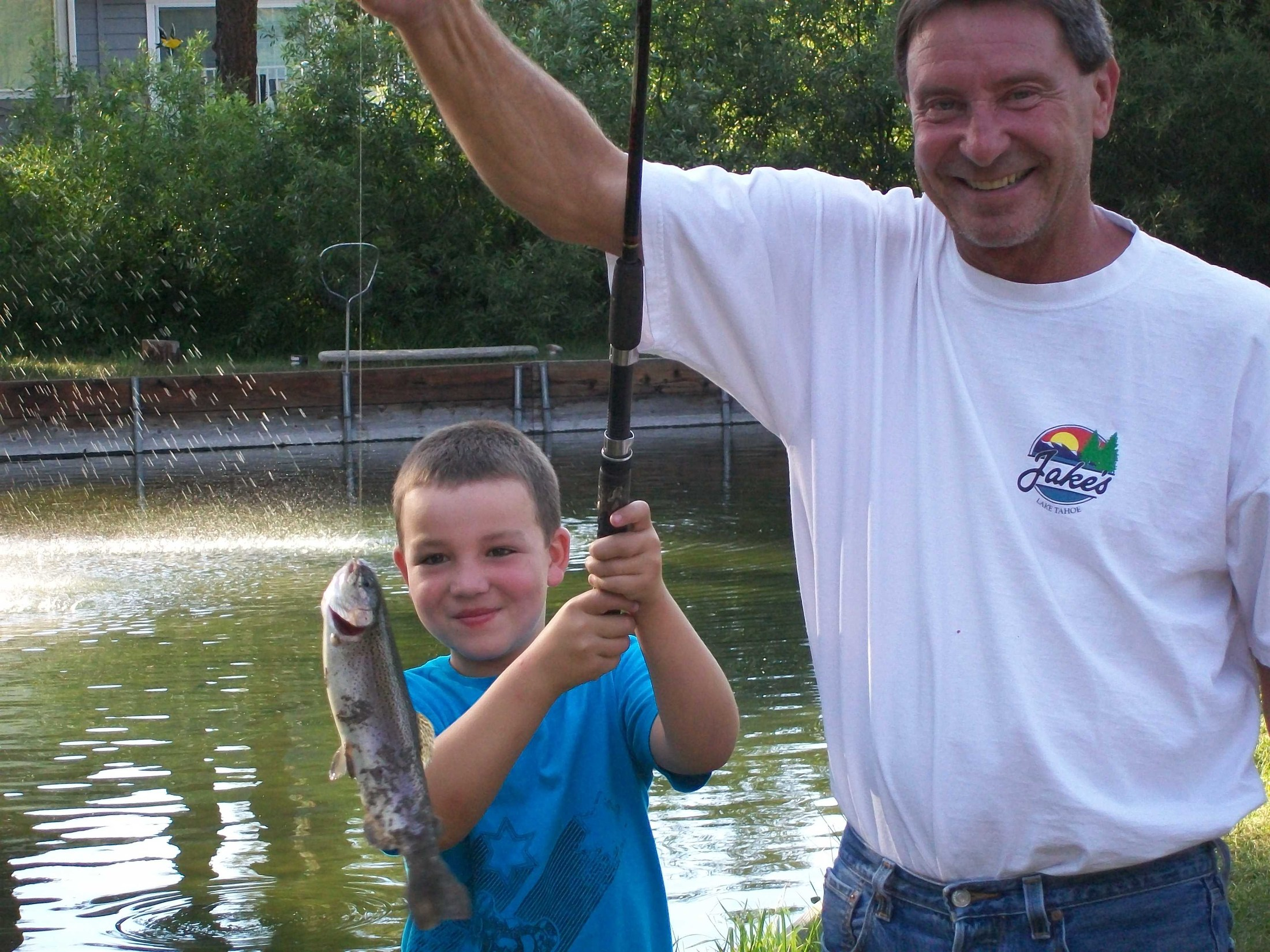 Dom's first fish