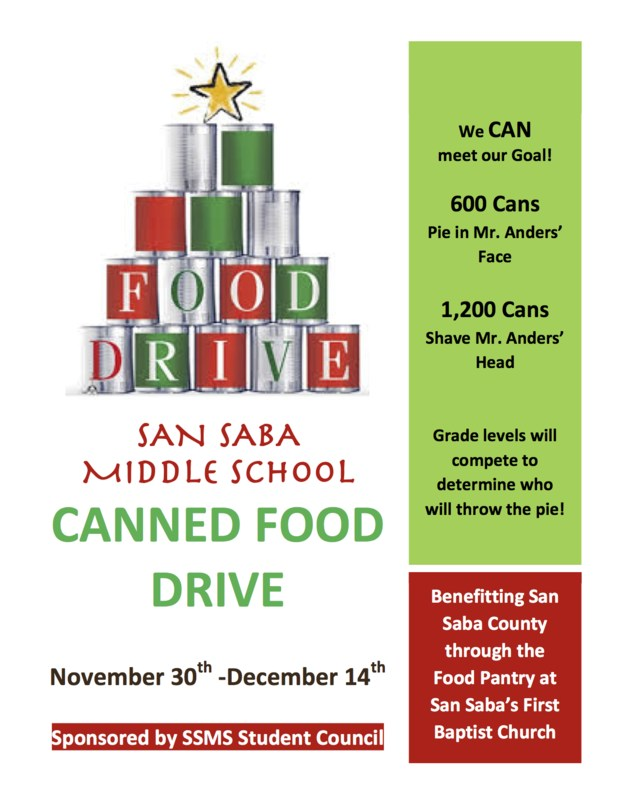 SSMS Canned Food Drive