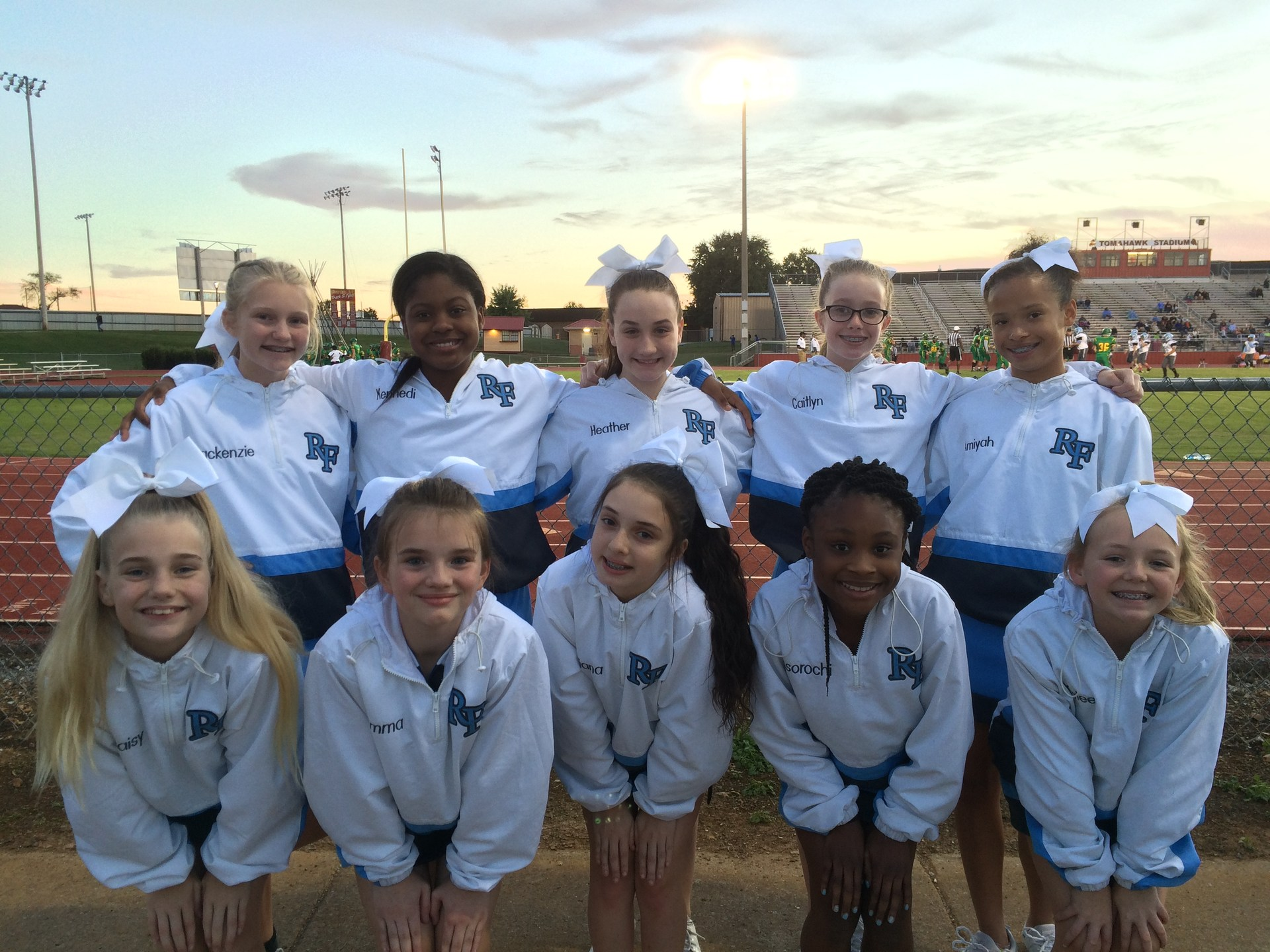 Cheerleaders at RF Football Game