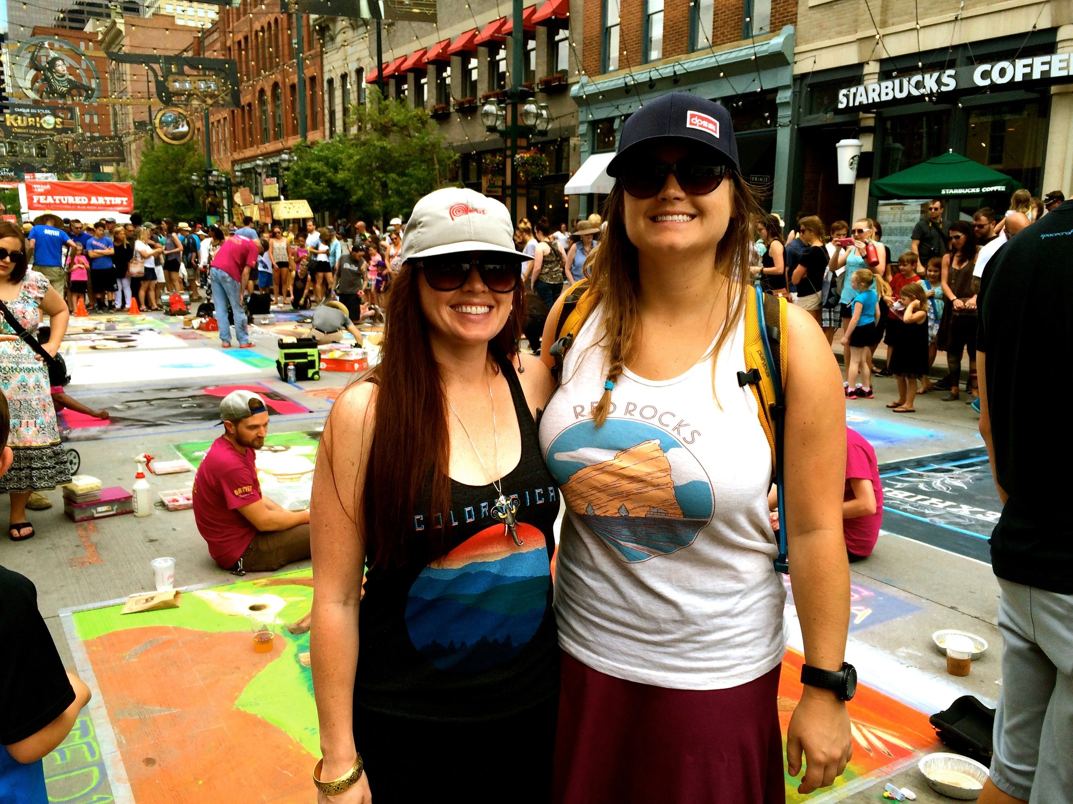 Chalk Art Festival with my sister