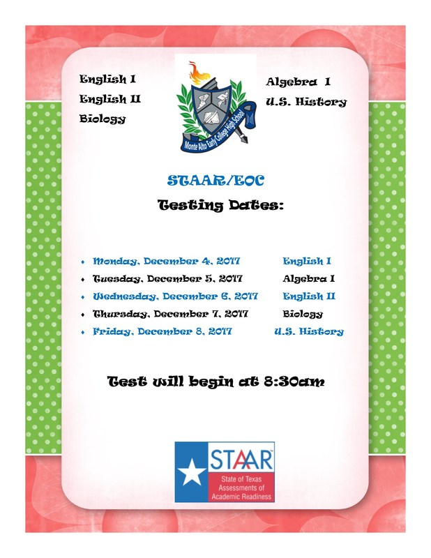 STAAR EOC Testing Dates Featured Photo