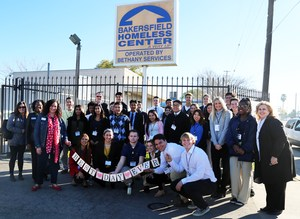 Youth Leadership students on a field trip to the Bakersfield Homeless Center.