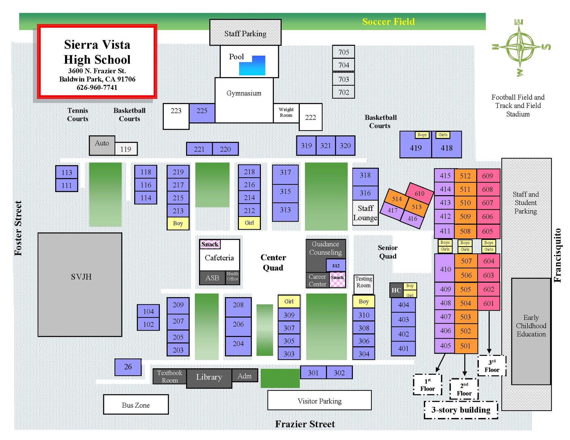 School Campus Map.Campus Map About Svhs Sierra Vista High School