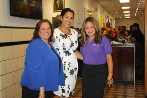Ms. Villareal, Ms. Spencer, and a staff members