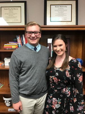 Ryan Rakowitz and Sarah Bruett, January Students of the Month