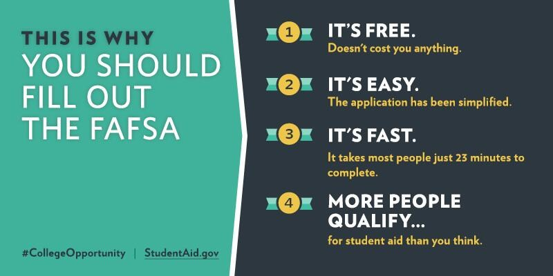 College Bound Seniors - It's FAFSA Time! Featured Photo