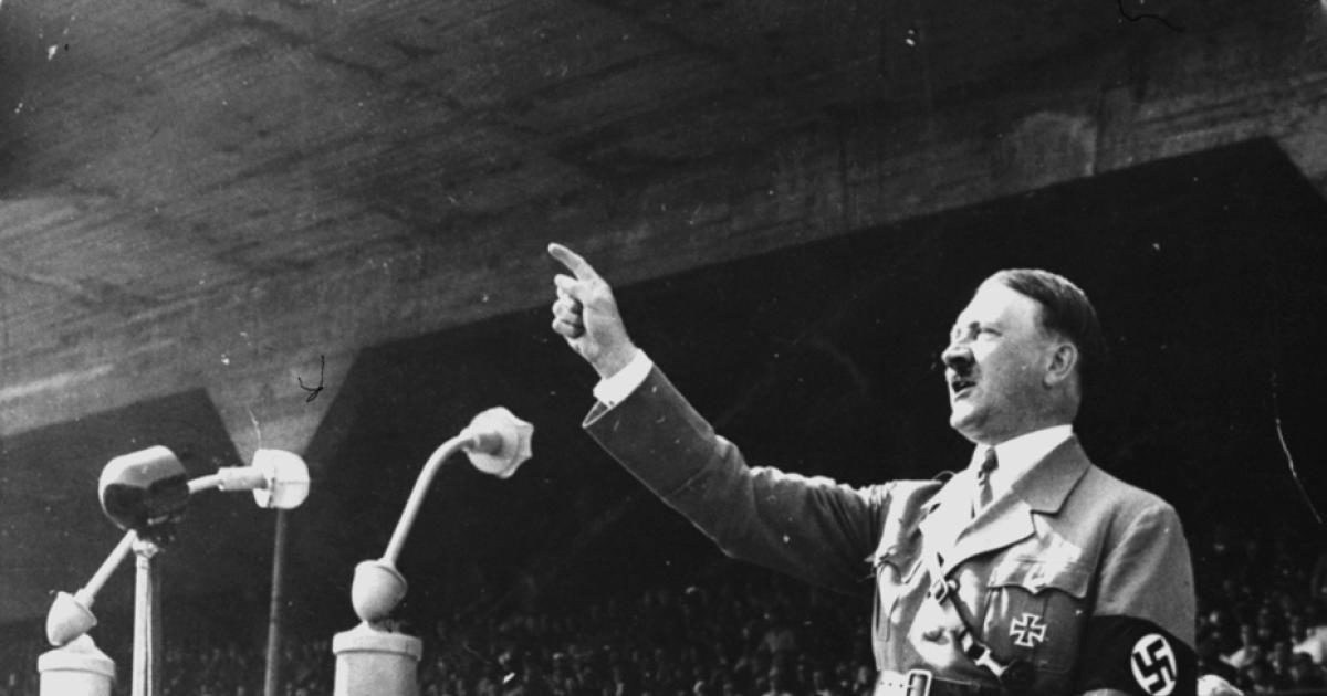 Adolf Hitler speaking
