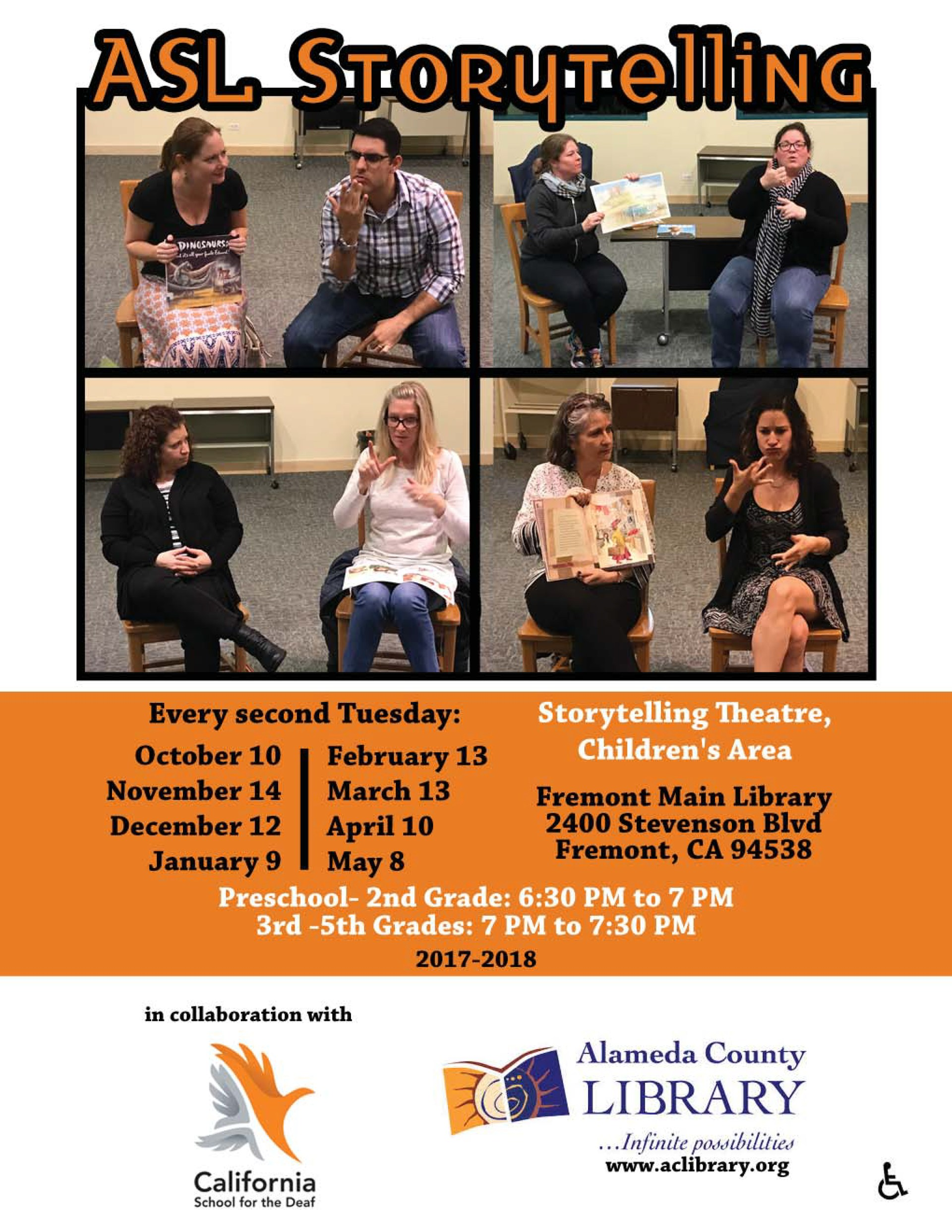 ASL Storysigning at Fremont Main Library - Educational Support