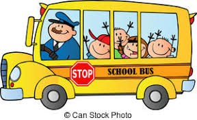 Yellow School Bus with children and a bus driver inside