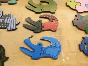 Colorful, fun alligator puzzles.