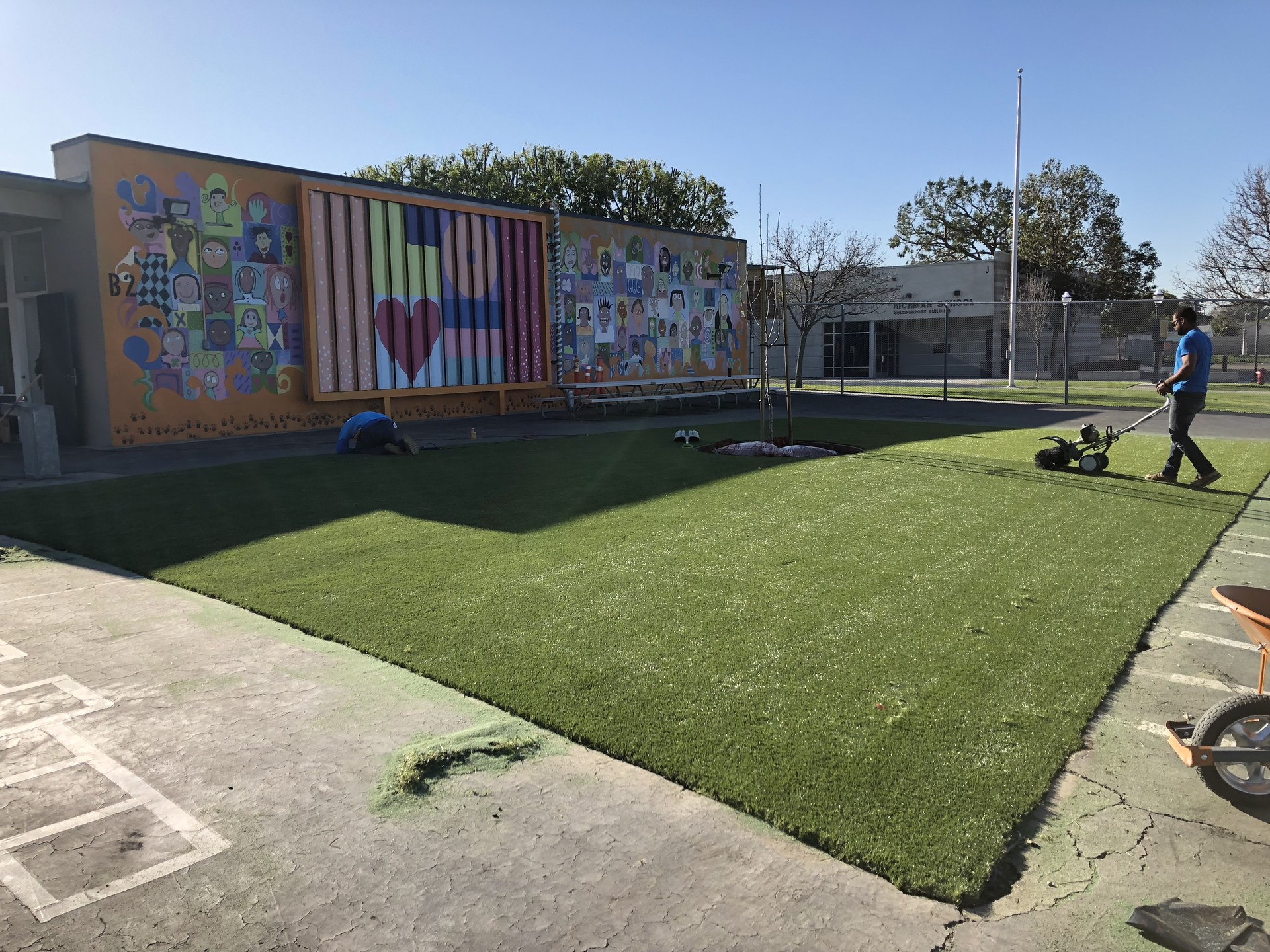 Richman School Beautification