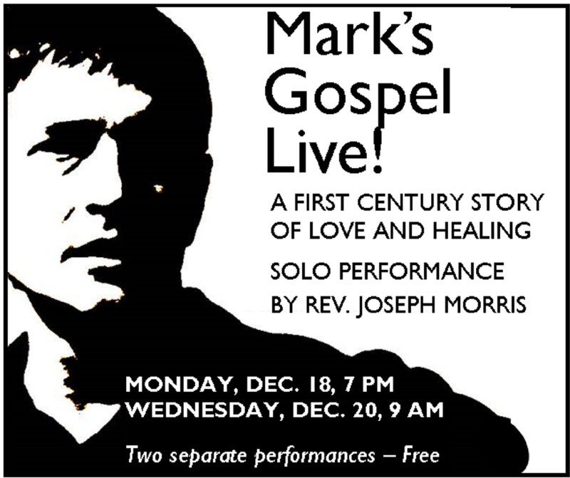 Coming: Mark's Gospel Live! Thumbnail Image