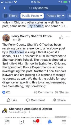 SHS threats in Ohio on social media