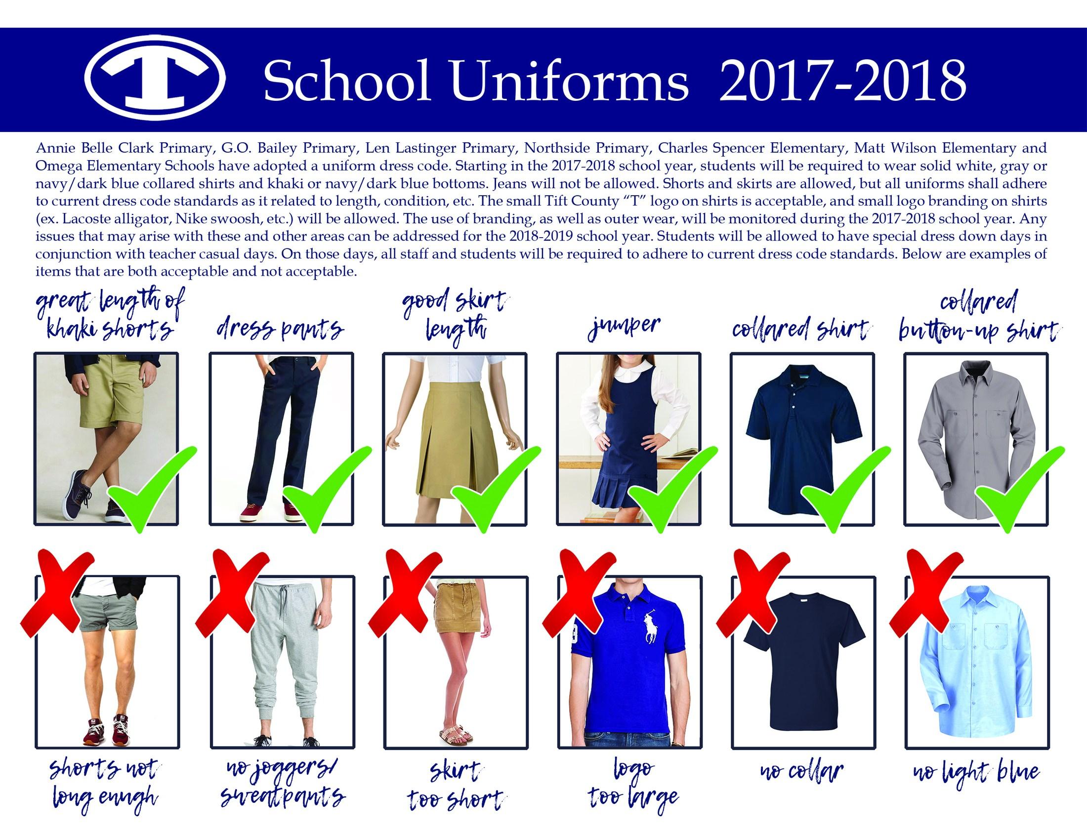 school uniforms should be requirement Uniform/dress code requirements school uniforms: parker school uniforms is our official uniform company for uniform pricing, please click here.