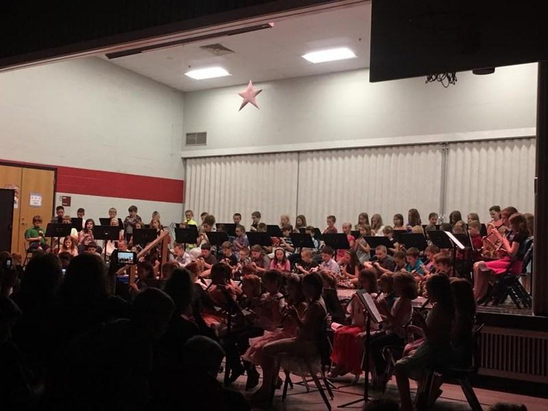 Photo of Third Grade recorder performance