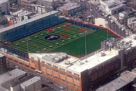 Arial view of the Union City High School Football Field