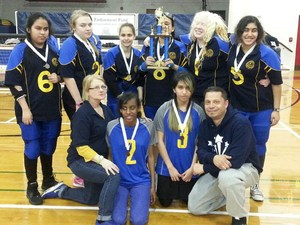 The 2017 NYISE Girls Goalball Team