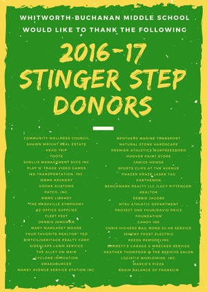 2016-17 Stinger Step Donors