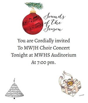 Choir Concert flyer with date and time