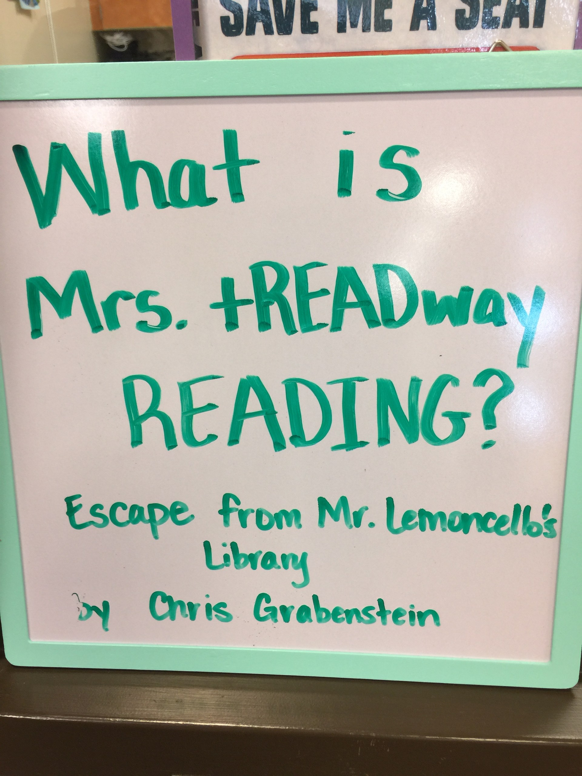 'What is Mrs. tREADway reading?'