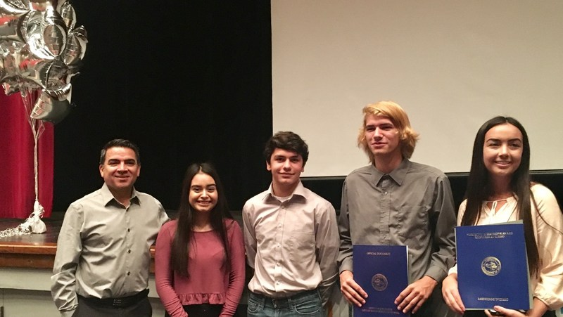 Student winners and finalists in PG&E Solar Suitcase program.