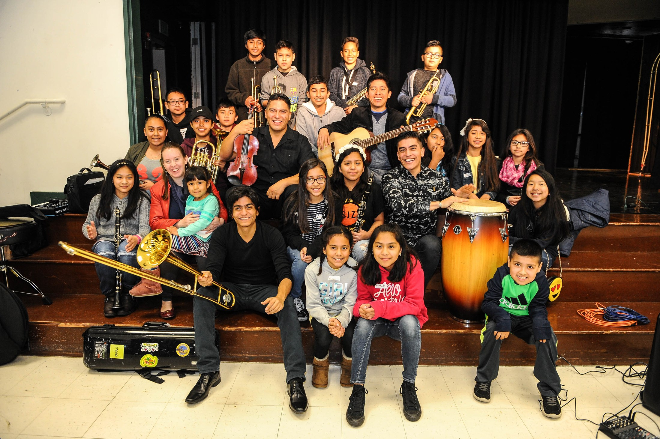 students picture with their instruments