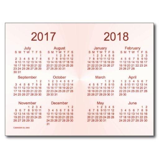 2017-2018 Calendar Image