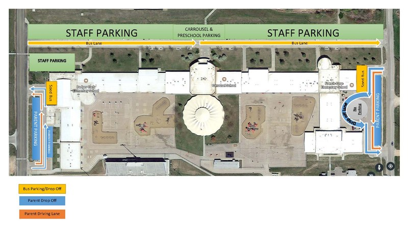 Photo of Patriot Elementary Drop-off and Pick-up Routes