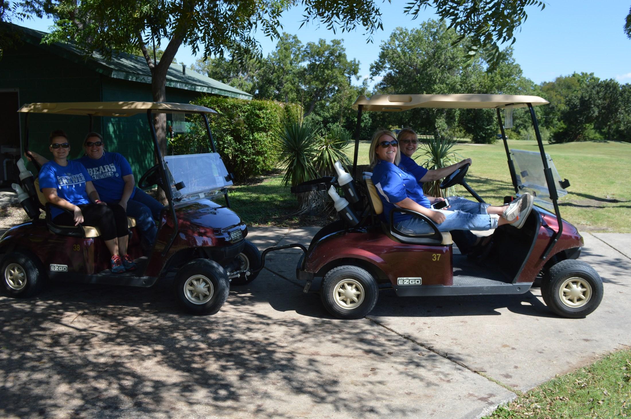 Golf Tournament: Driving golf carts