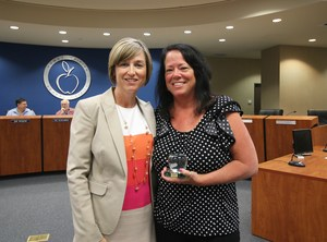 Superintendent Christi Barrett and Cyndee Amezcua