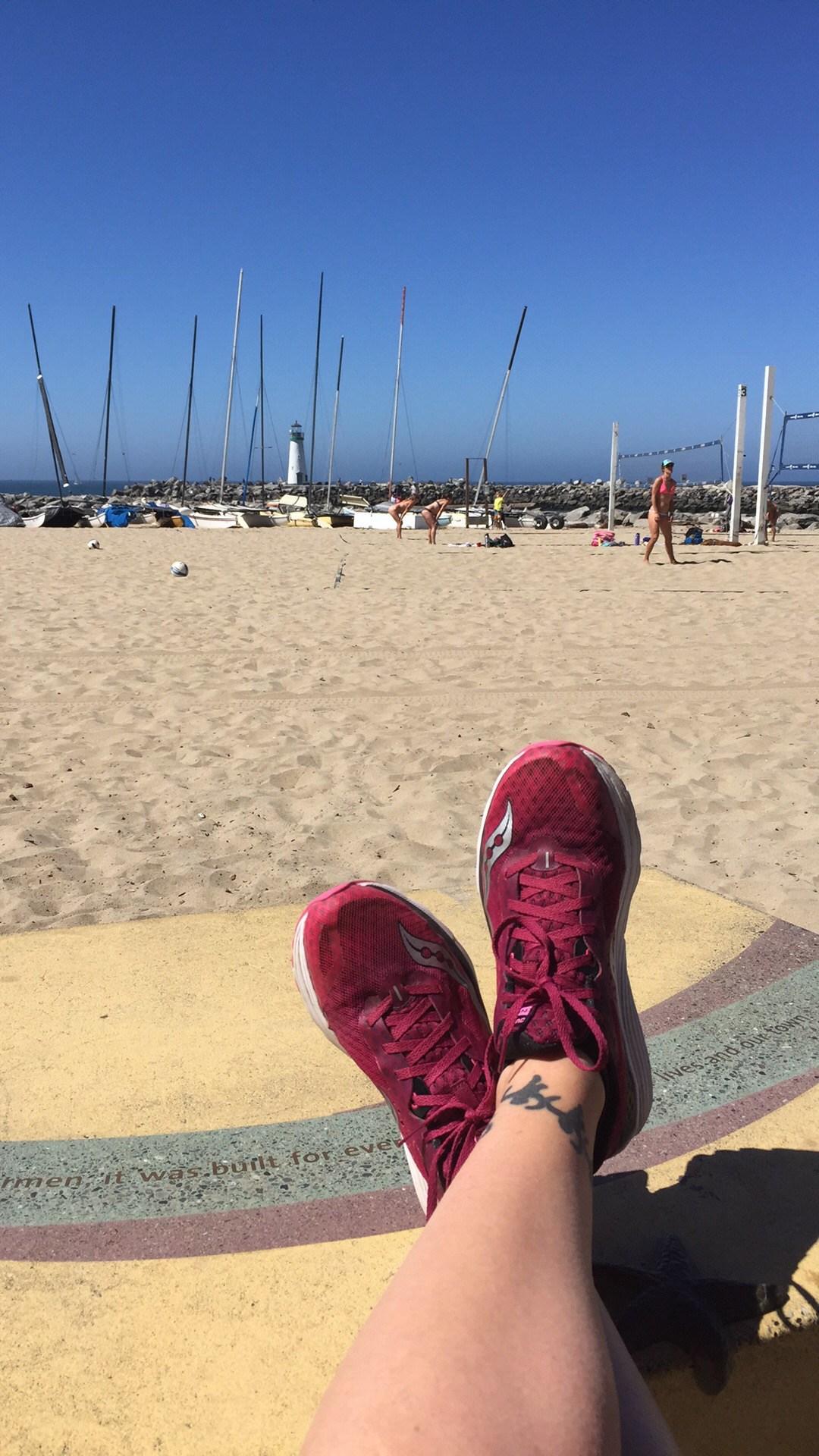 Image of feet on sand