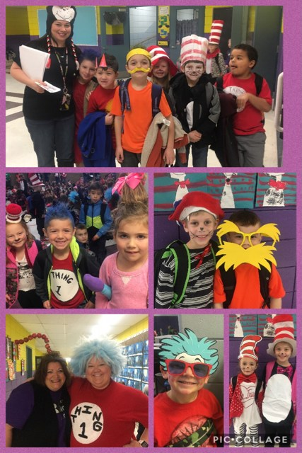 kids dressed for Dr. Suess day