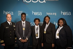 HOSA students group photo