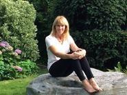 Mrs. Storer in her garden