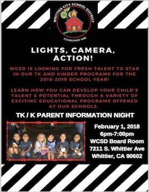 Tk & Kinder Info Night Flyer
