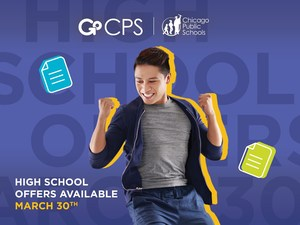 Image from CPS showing student happy with admission results