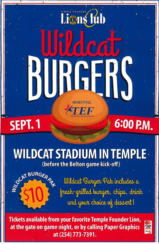 Wildcat Burger Event