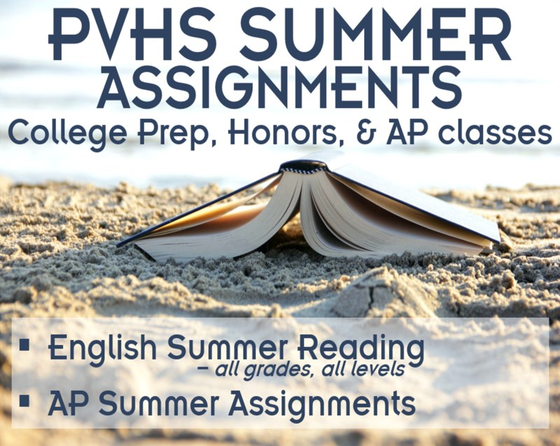 Summer Assignments Thumbnail Image