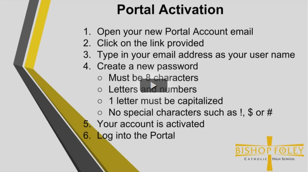 First Time Portal Login Tutorial