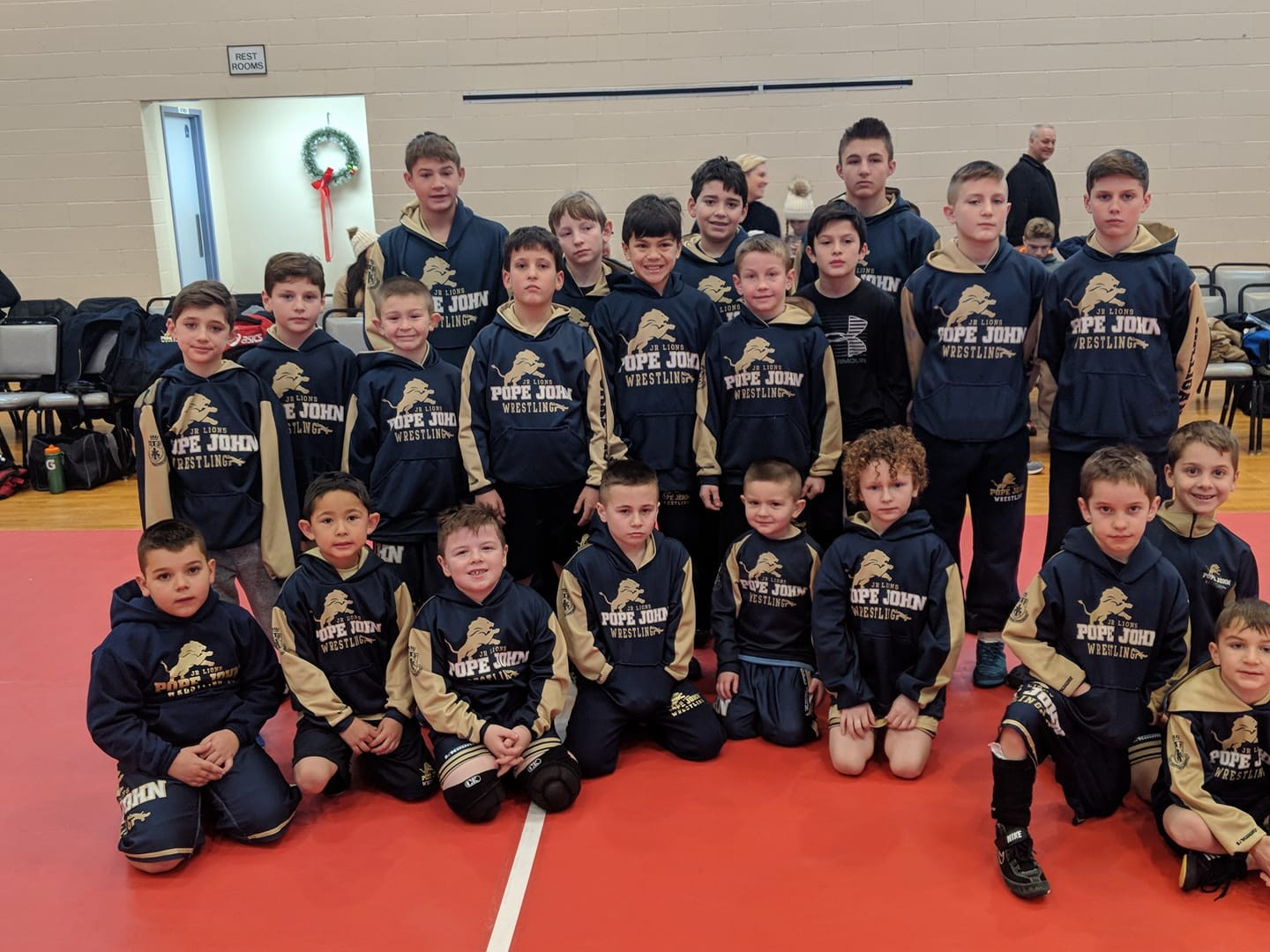 Jr Lions wrestling team photo
