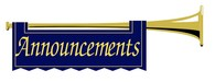 Trumpet image saying announcements