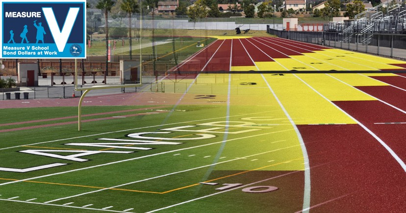 Lakeside High School synthetic track, football field retrofit, a Measure V project